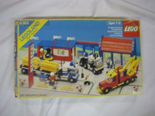 Lego BIG RIG TRUCK STOP 6393 Set Town w/ box 5 minifigs city boxed