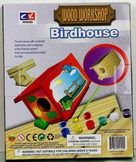 New Wood Bird House Kit Craft Set Kids Activity Kit Workshop Lots of