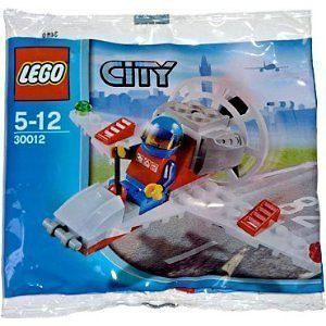 MoreNSave) LEGO City Mini Figure Set 30012 Mini Airplane Bagged New