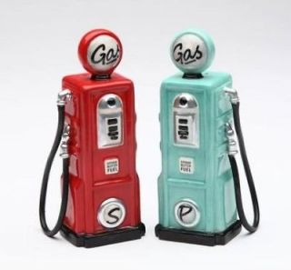 Road Trip Vintage Look Gas Pumps Salt & Pepper Shakers S/P Set