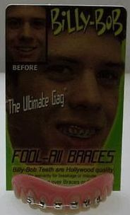Adult Billy Bob Funny Fools All Braces Nerd Dork Costume Teeth