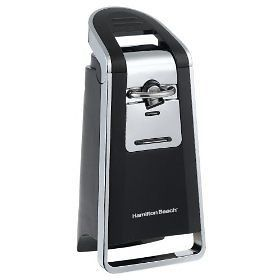 Hamilton Beach Pop Top Electric Can Opener Black Chrome