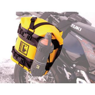 Wolfman Expedition Dry Saddle Bags Yellow ( Bottle Not Included )