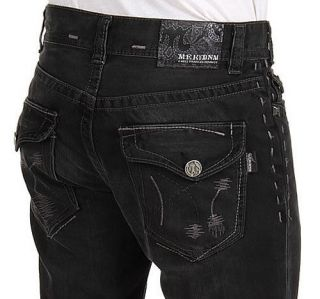MEK Denim Mens Jeans CASABLANCA Straight Leg   NEW   Black   30 x 34
