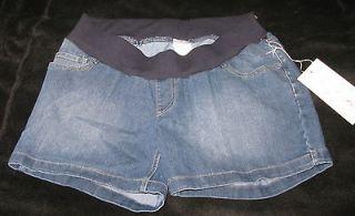 Oh Baby by Motherhood Under Belly Denim Jeans Shorts in Medium