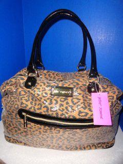 NWT Betsey Johnson Natural Spotted Cheetah Weekender Bag Overnight