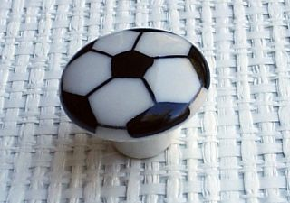 Newly listed Set Of 2 Soccer Ball Cabinet Knob Drawer Pull 1 1/2 Kids