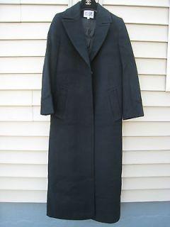 Bill Blass cashmere wool long black coat 2