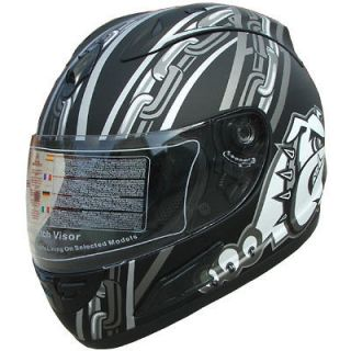Motorcycle Helmet Full Face Sports Helmets DOT bull dog 105 flat black