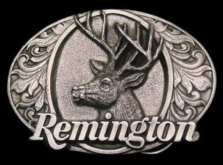 UNUSED* VINTAGE 1994 ***REMINGTON FIREARMS*** BIG BUCK DEER GUN BUCKLE