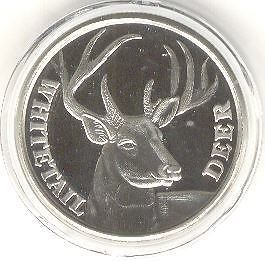 Whitetail Deer Buck Nickel Engravable Hunting Challenge coin medallion