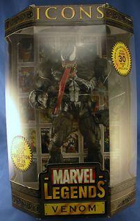 Marvel Legends Icons Toy Biz Eddie Brock Venom Masked Action Figure In