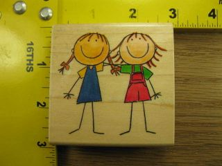 BEST FRIEND SISTERS GIRLS BY ME & MY BIG IDEAS Rubber Stamp #2696