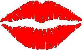 Hot Lips DECAL STICKER for WALL ART, CAR WINDOW, HELMET, Phone