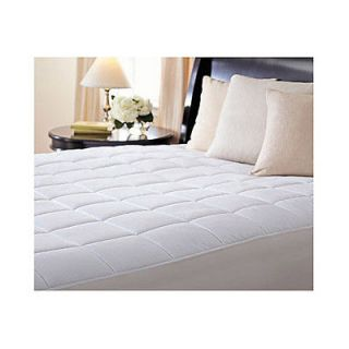 Sunbeam Premium Quilted Heated Electric Mattress Pad Box Pattern Twin