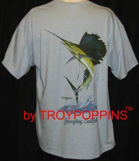 JUMPING SAILFISH SPORTS FISHING FISHERMAN 2X 3X GEAR T SHIRT GRAPHIC