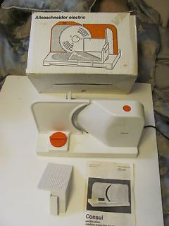 CONSUL Electric MEAT SLICER Home Use VGUC