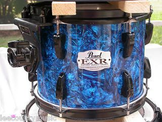 EXR EXPORT SERIES 10 BLUE PRIZM RACK TOM DRUM for DRUM SET! LOT# K440