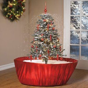 UNIQUE 55 Snowing SNOW Holiday Tabletop Christmas Tree With Music NEW