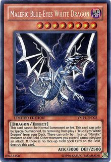 1x Malefic Blue Eyes White Dragon Near Mint Bonds Beyond Time Pack