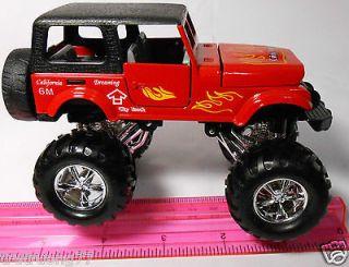 Diecast CJ Chrysler Jeep Replica Off Road 1 32 Monster Truck Big Foot