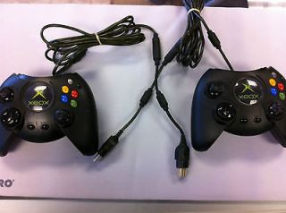 Lot of 2 Working DUKE Big Original Xbox Controllers First Party