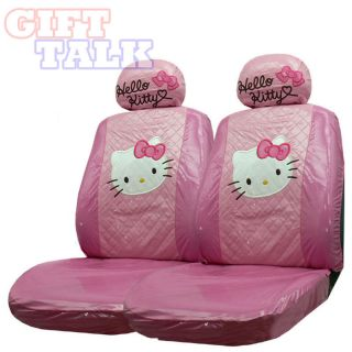 Hello Kitty Auto Accessory Car Seat Cover 2PC (Front Seat Cover