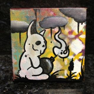 Bad Rabbit Painting Tattoo Flash Art Graffiti Art Outsider Art Lowbrow