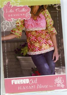 Funked Out peasant blouse pattern (LTD011)