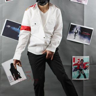 Michael Jackson CTE White Shirt W/ Armband, Gonna HAVE MJ costume