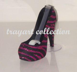 Zebra Pattern Stiletto High Heel Shoe TAPE DISPENSER office supplies