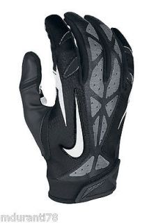NIKE VAPOR JET 2.0 FOOTBALL GLOVES Black NFL ADULT XL 2012 Edition SF
