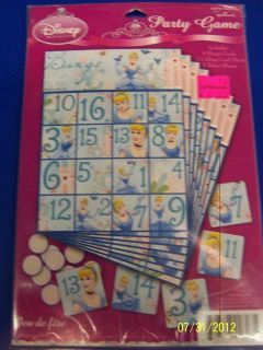 Dreamland Disney Princess Kids Birthday Bingo Party Favor Game