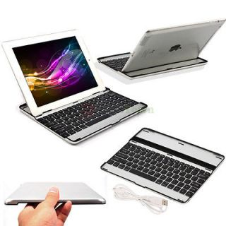 Ultra Thin Bluetooth Wireless KeyBoard Stand Case for iPad 4 3 2 Black