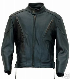 LEATHER MOTORCYCLE JACKET FOR HARLEY & BMW RIDERS LRG sku 67543199