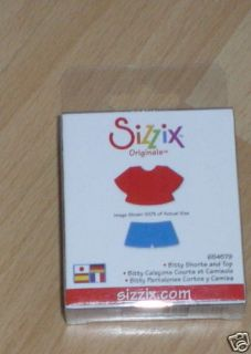 NEW Sizzix SMALL Green Die BITTY BODY SHORTS & TOP