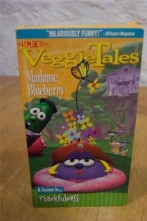 Veggie Tales MADAME BLUEBERRY A Lesson in Thankfulness VHS VIDEO