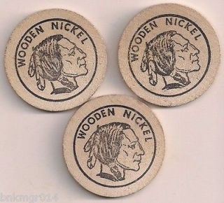 1981 Wooden Nickels Daniel Boone Reading, PA 13h Annual Coin Show