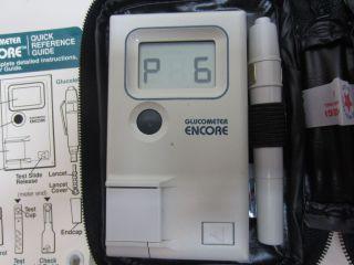 Glucometer model 5885 Blood Glucose Meter with Glucolet,case & manual
