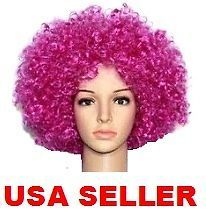 PURPLE afro WIG Katy Perry 70s 80s hair DISCO clown RETRO fro CURLY