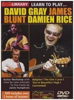 Learn To Play David Gray, James Blunt, Damien Rice  DVD  NEW