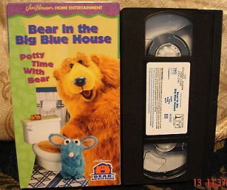 Potty Time with Bear In The Big Blue House Vhs Toilet Training My Kids
