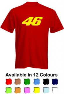 Racing 46 Valentino Rossi Mens T Shirt   FREE P&P   12 Colours   ALL