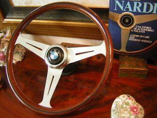 BMW E9 Original Nardi 15.3 Wood Steering Wheel NEW NOS