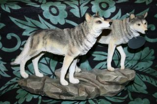 Wolves Figurine **altar,bos,sp ells,indian,sp iritual,