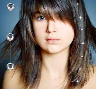 LOT OF 6 SWAROVSKI CRYSTAL HAIR EXTENSIONS GLOWBYS NEW