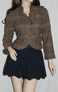 by Abercrombie Womens Wool Blend Blazer Jacket Coat Outwear $120
