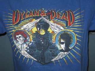 vintage 1987 BOB DYLAN & THE GRATEFUL DEAD TOUR T Shirt SMALL rock
