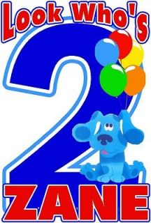BLUES CLUES BIRTHDAY PARTY T SHIRT DESIGN DECAL NEW PERSONALIZED