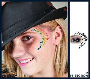 European Body Art Leaf Design Face Paint Stencil Template Airbrush